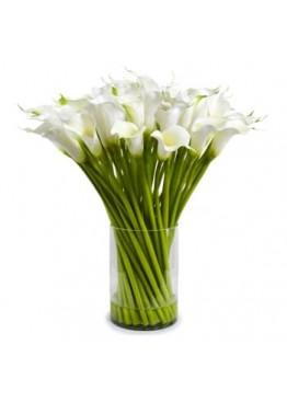 Белые каллы в вазе