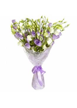 Букет фиолетовой эустомы
