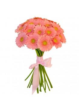 19 розовых гербер