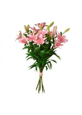 Розовые лилии поштучно
