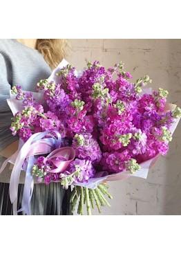 Букет розовой маттиолы