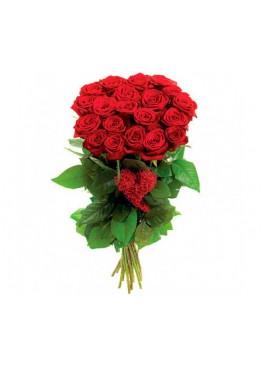 19 красных роз (60 см.)