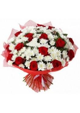 Любимые хризантемы и розы
