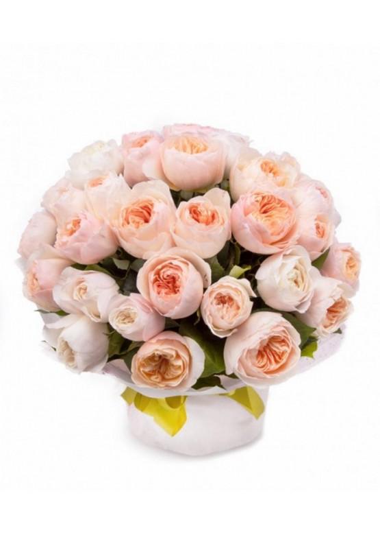 Букет ландыши, букет английских роз купить спб