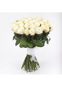39 белых роз